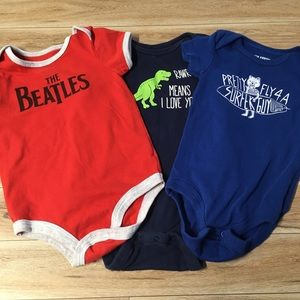 Other - 3 6-12 Months Onesies